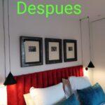 Instalación de lámparas de diseño, cuadros y cabecero.