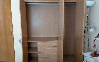 Revestimiento interior armario melamina en roble